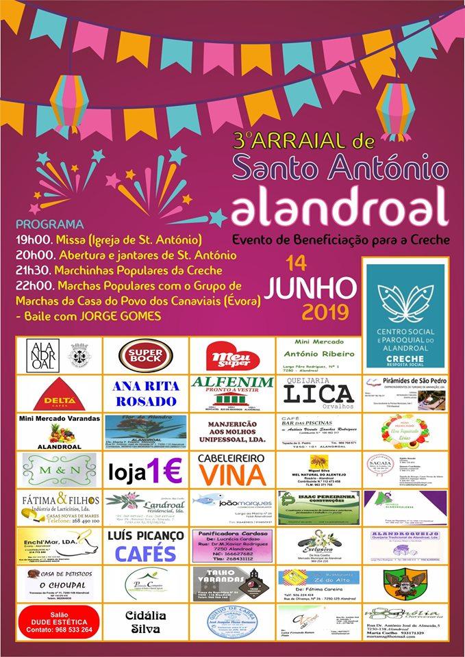 3º ARRAIAL DE SANTO ANTÓNIO - 14 DE JUNHO DE 2019 - LARGO DE SANTO ANTÓNIO - ALANDROAL.