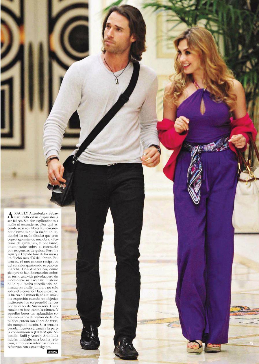 Aracely arambula y su novio