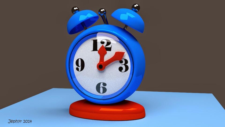 Blender 3D:  Alarm Clock - Jephyr 2014