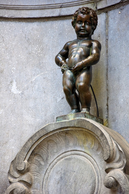 Our 'Little Man Pee' or Manneken Pis in Brussels, Belgium, has become one of the most famous sights in the city. Photo: WikiMedia.org.