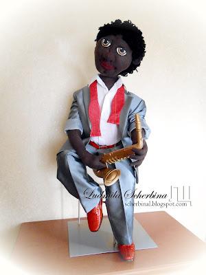 Текстильная кукла Максимка