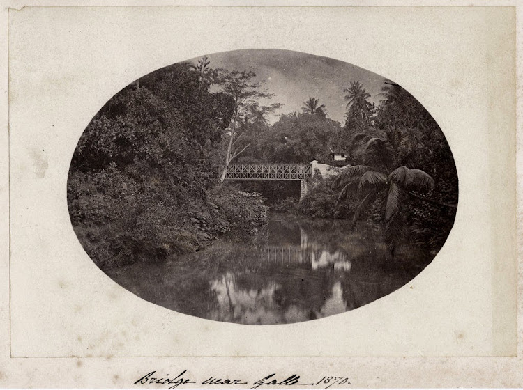Bridge Near Galle - Ceylon (Sri Lanka) c1870's