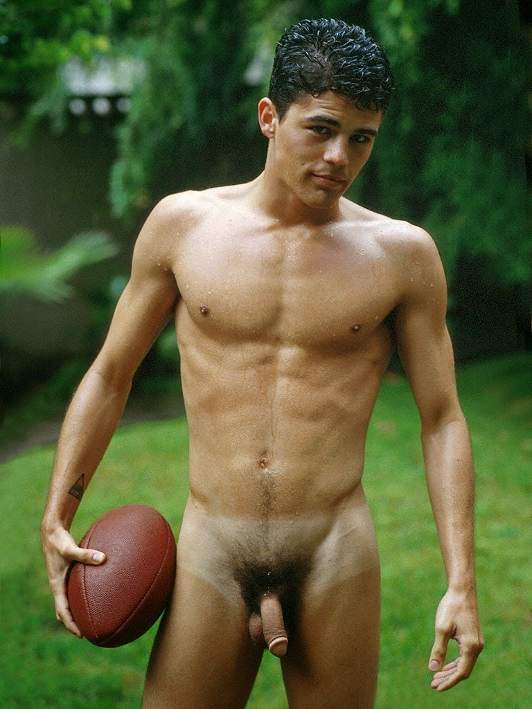 Nude football player male