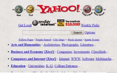 Inilah Tampilan Situs Populer 20 Tahun Yang Lalu - Yahoo