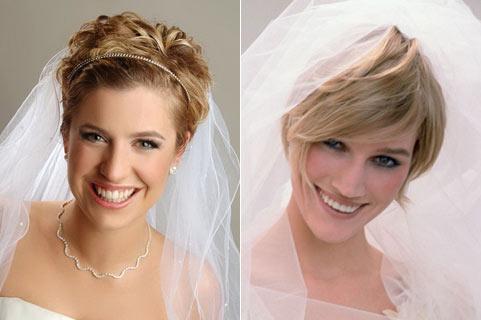 2 Весільні зачіски на коротке волосся