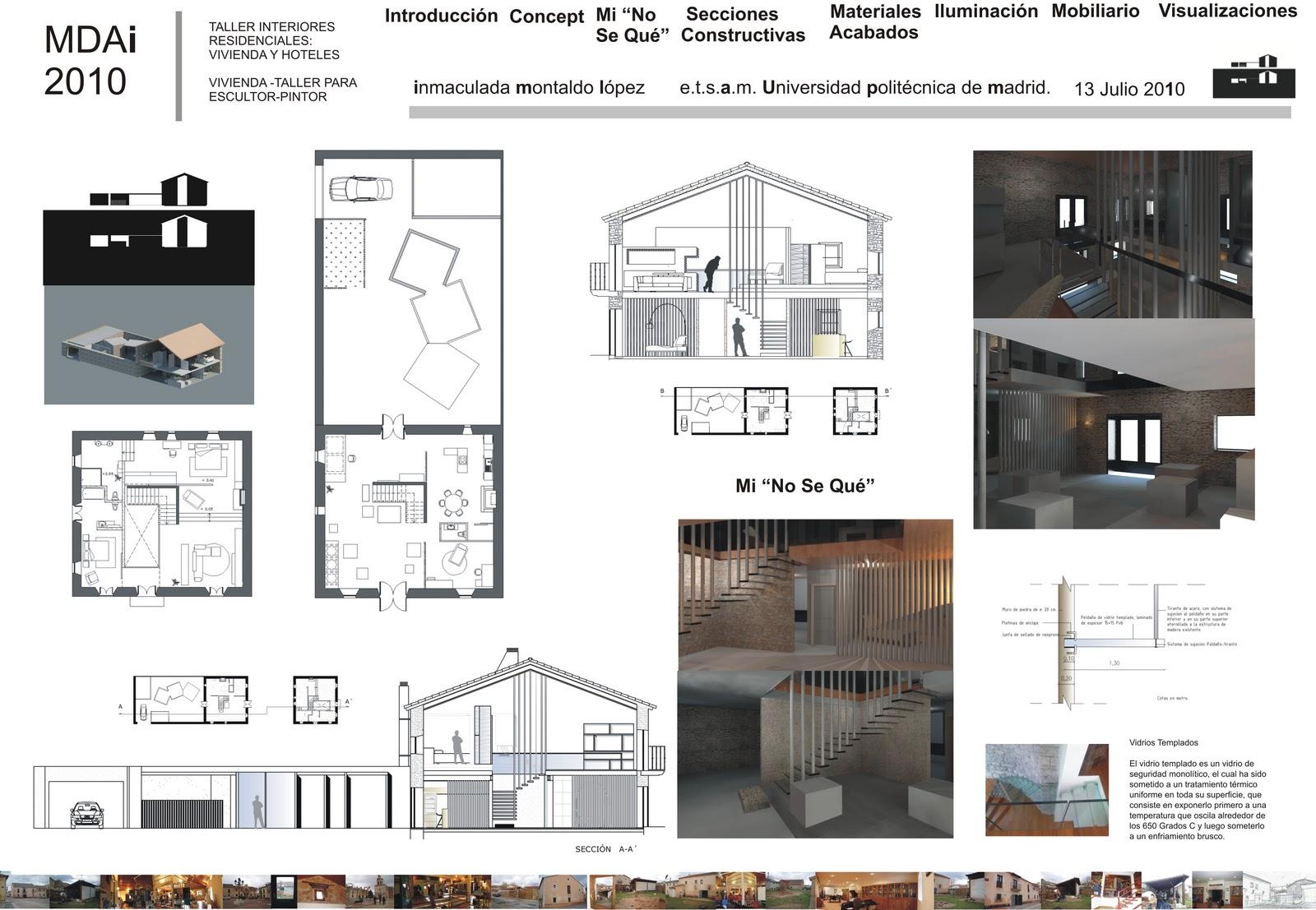 Inmaculada montaldo l pez arquitecta t arquitecta for Arquitecta de interiores