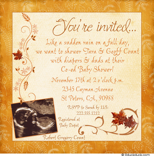 Autumn Baby Shower Invitations9