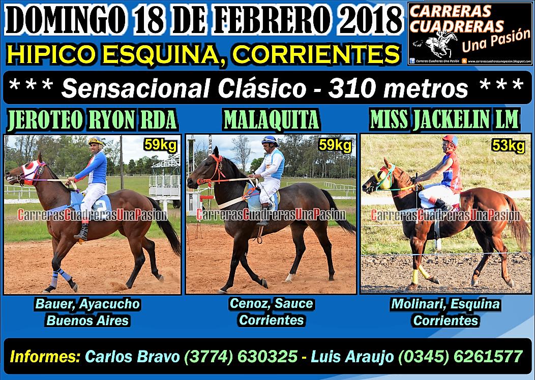 ESQUINA - CLASICO 310 - 18.02.2018