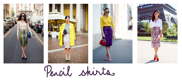 pencil skirts, summer inspiration