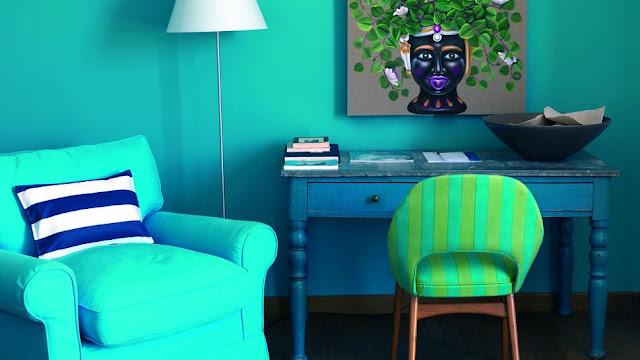 Urlaubserinnerung zuhause: tauchen Sie Ihre Zimmer in frischem Blau und Türkis
