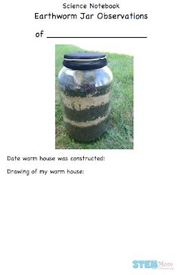 Worm Jar Observation Journal: STEMmom.org