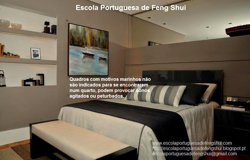 Feng Shui Escola Portuguesa QUADROS NO QUARTO