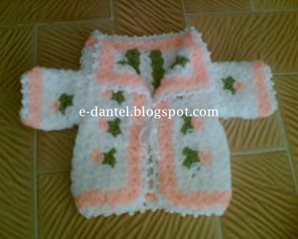 Bebek Ceket Motifli Lif Örneği