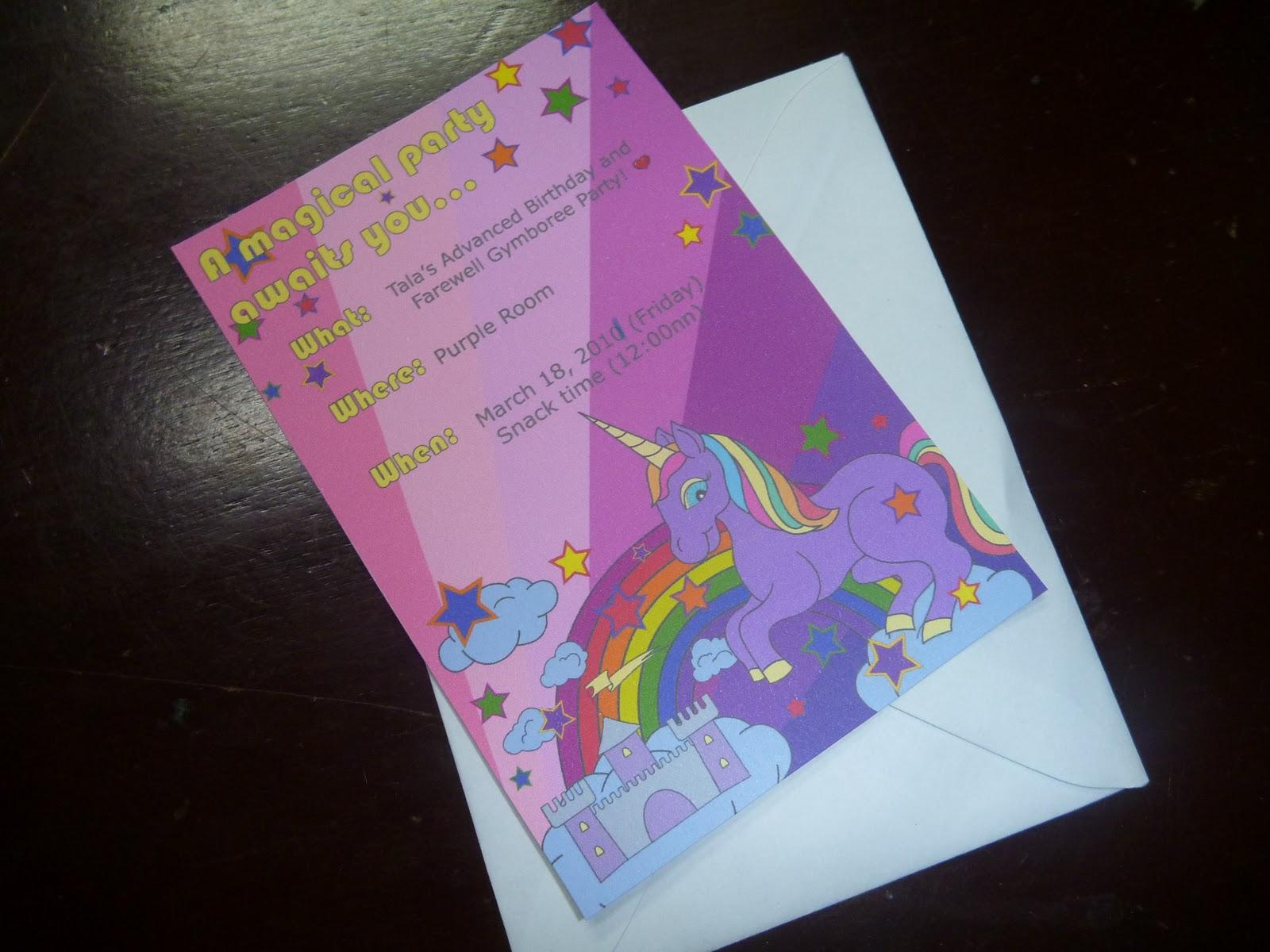 Earth to Gail: Unicorn Birthday Party