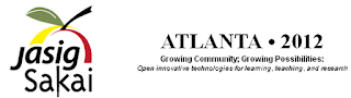 "jasig Sakai Atlanta conference logo with motto ""Growing Community: Growing Possibilities"""