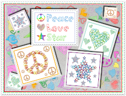 "Stickdatei ""LovePeaceStar"""