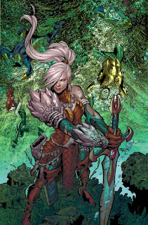 Aqua-mom on cover of Aquaman #39 from DC Comics