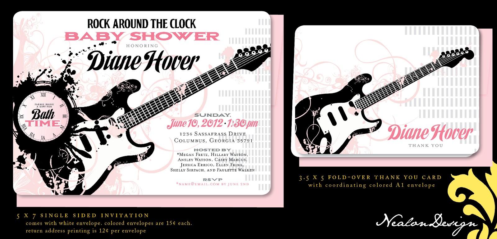 Nealon Design: Rock Around the Clock BABY SHOWER