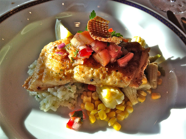 Mahi Mahi with Roasted corn salsa and risotto
