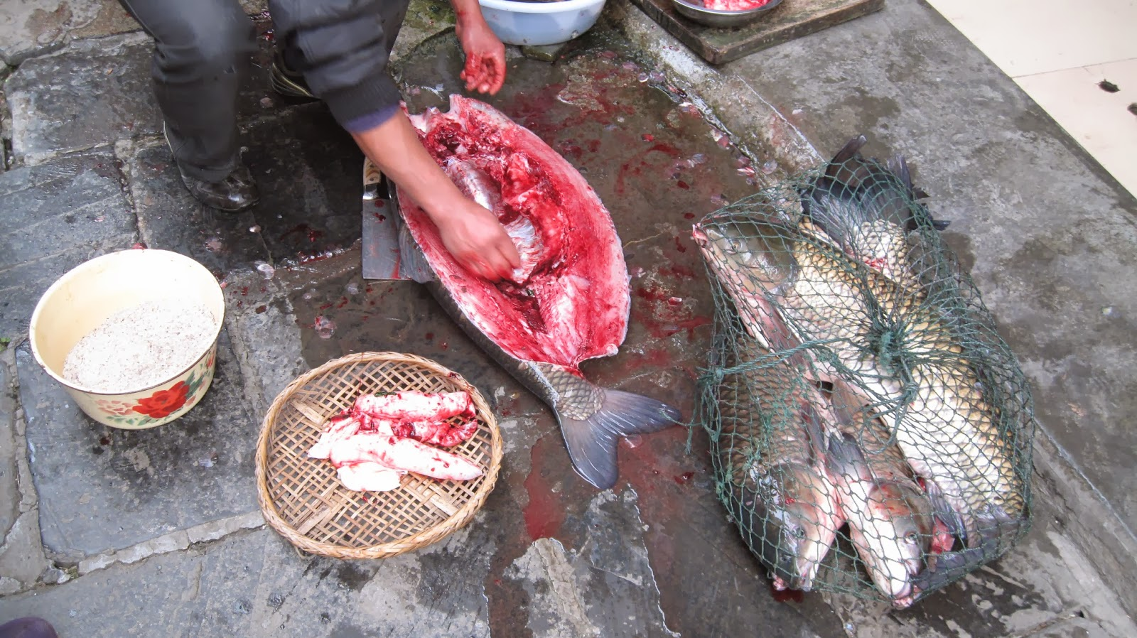 China non stop preparing salted fish in china for Chinese salted fish