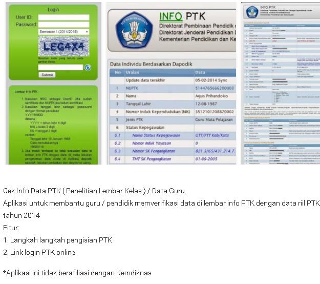 App Info Ptk