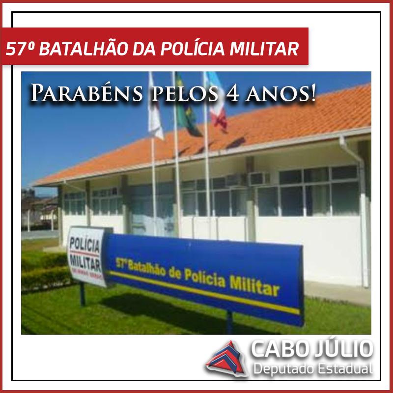 Aniversário 57º Batalhão da Polícia Militar