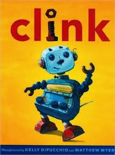 http://www.amazon.com/Clink-Kelly-DiPucchio/dp/006192928X/ref=sr_1_1?ie=UTF8&qid=1387464776&sr=8-1&keywords=clink