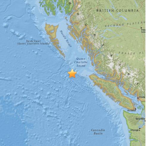Earthquake Off Of North Vancover Island