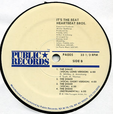"""The Heartbeat Brothers – It's The Beat / The Shake – 12"""" – 1986"""