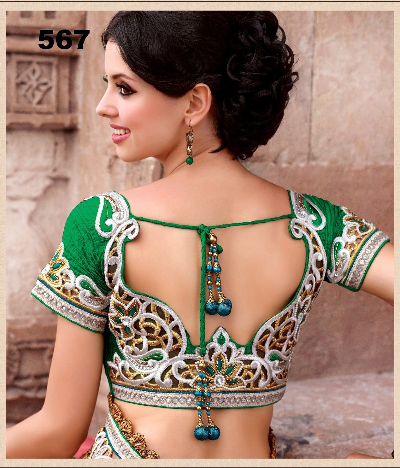 Sparkling fashion new designer work blouses for New design pic