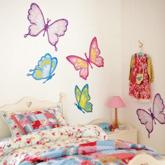 Modern Home Interior Design: Bedroom Wall Design Forms For Girls