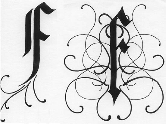 Letter J In Different Style On different calligraphic