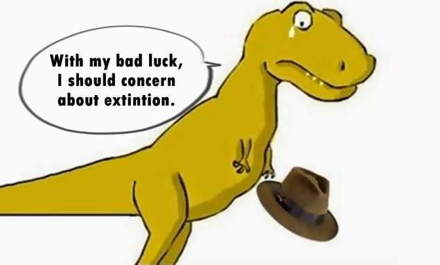 dinosaurs bad luck