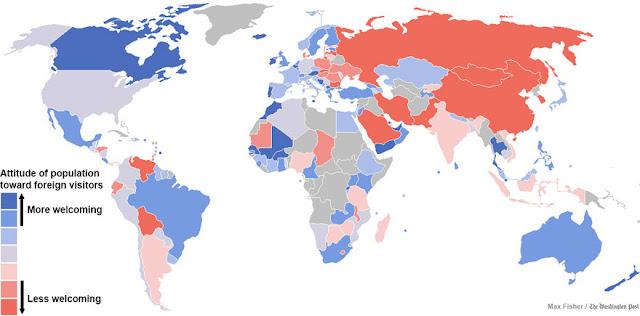 Onde ficam os países mais acolhedores do mundo e que sabem receber os estrangeiros e turistas