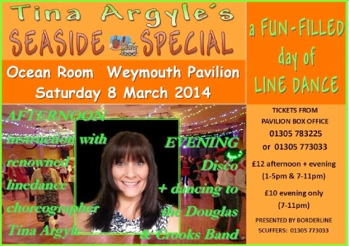 Tina Argle's Line Dancing Weymouth Pavilion Ocean Room 8th March 2014