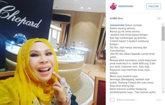 Jawapan Datuk Seri Vida apabila pelajar minta biasiswa belajar