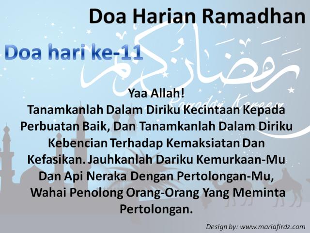 Doa Harian Bulan Ramadhan | Doa Hari Ke-11