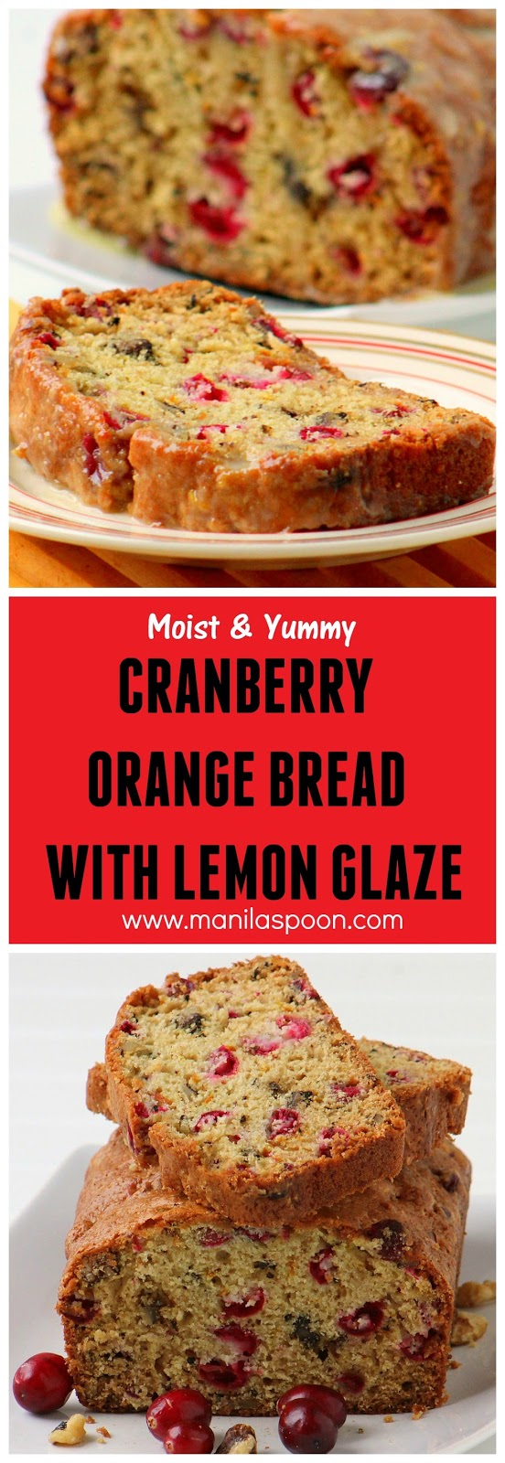 orange flavors and studded with pecans, this Cranberry Orange Bread ...
