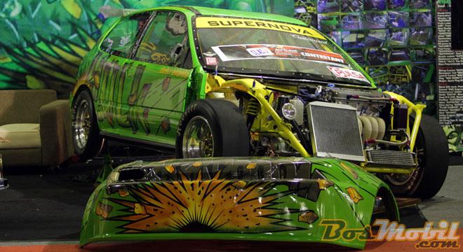 Modifikasi Honda Civic Estilo : Sasis Tubular, Kejar Bobot Ringan  title=