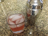 I chose Tickled Pink: 1/2 Kinky Liqueur, 1/2 bubbly pink moscata