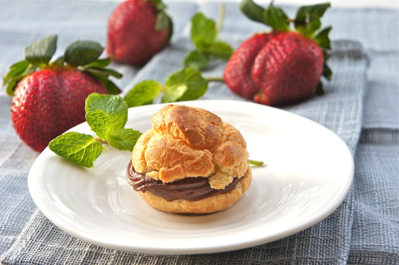 : Cream Puffs-Profiteroles With Vanilla And Chocolate Pastry Cream ...