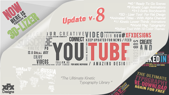 VideoHive Kinetic Typography Pack