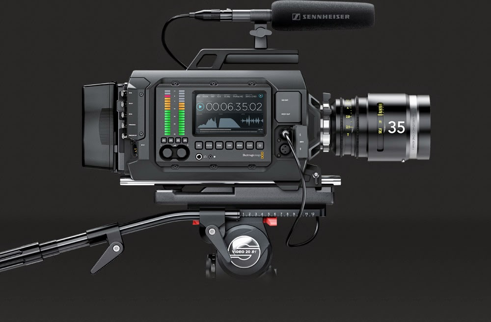 The Blackmagic URSA digital film camera.