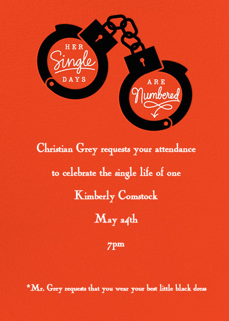 50 Shades Party Ideas 50 Shades of Grey Party Invite