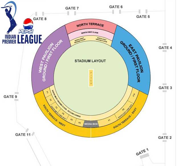 Sunrisers Hyderabad IPL 6 Rajiv Gandhi Stadium Hyderabad IPL 2013 Online Tickets Bookings
