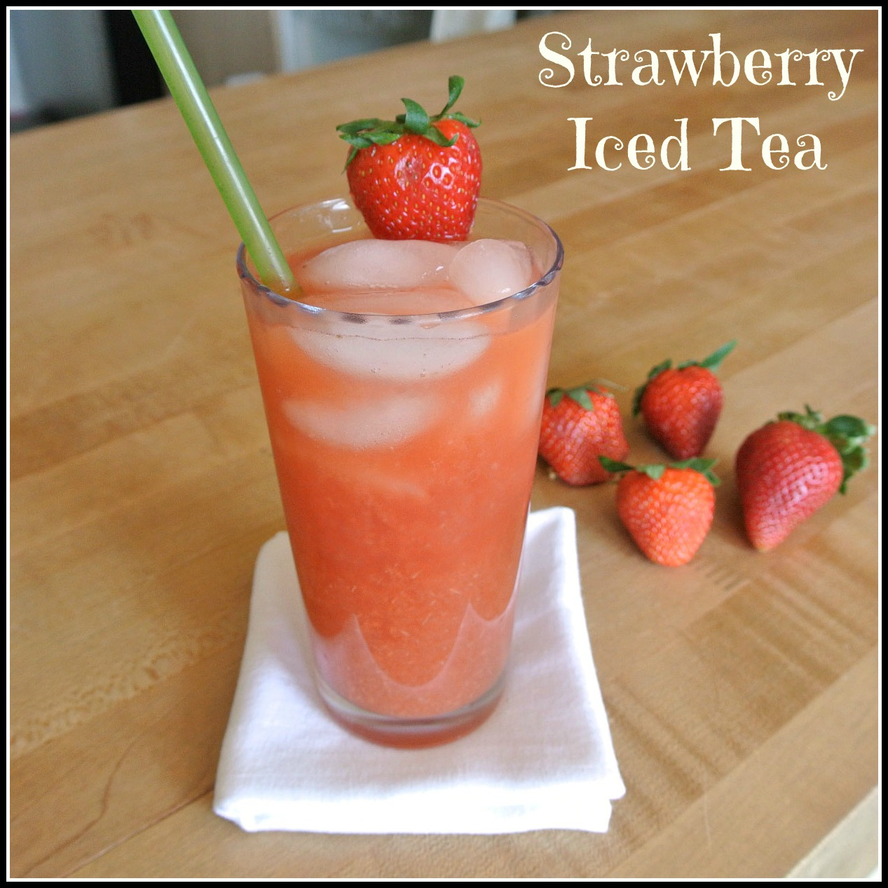 Mom what 39 s for dinner strawberry iced tea for California iced tea recipe