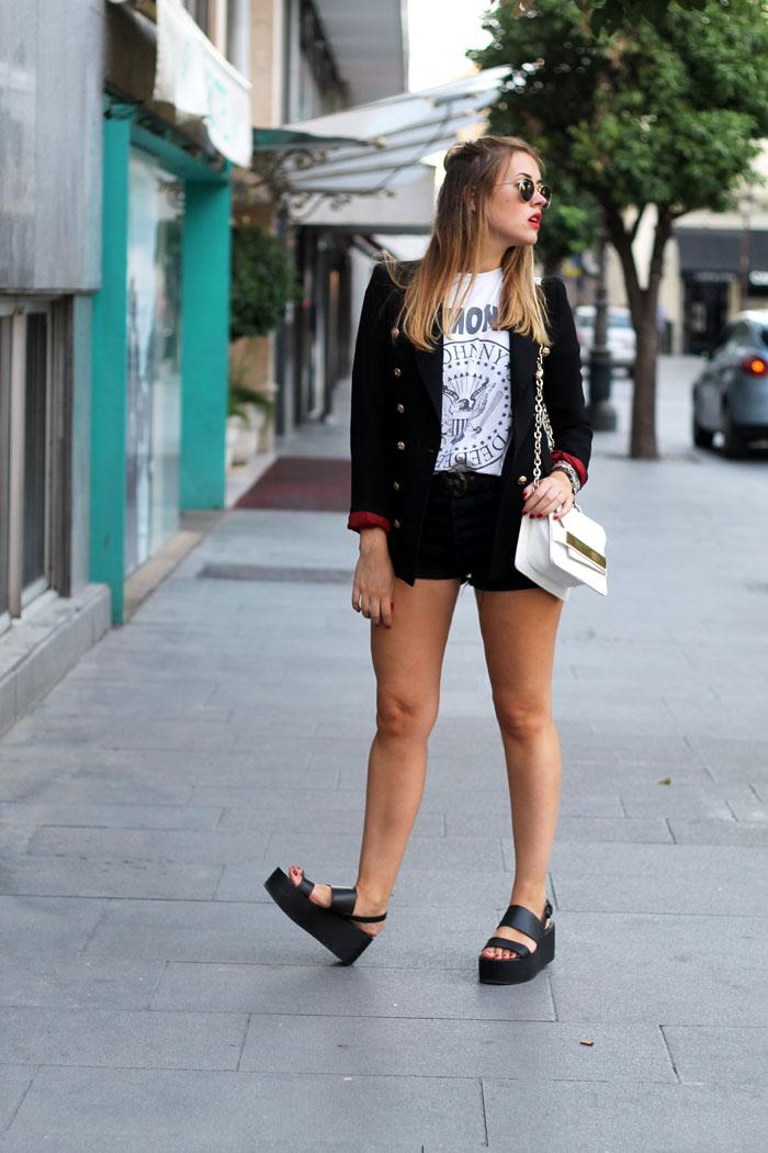 blazer and shorts