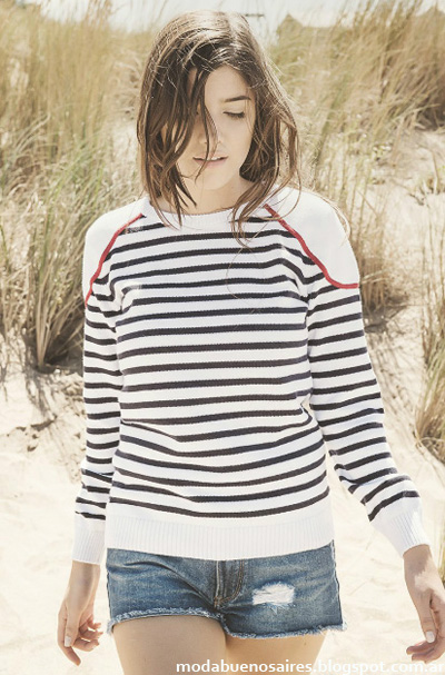Moda mujer 2015. Sweaters tejidos primavera verano 2015.