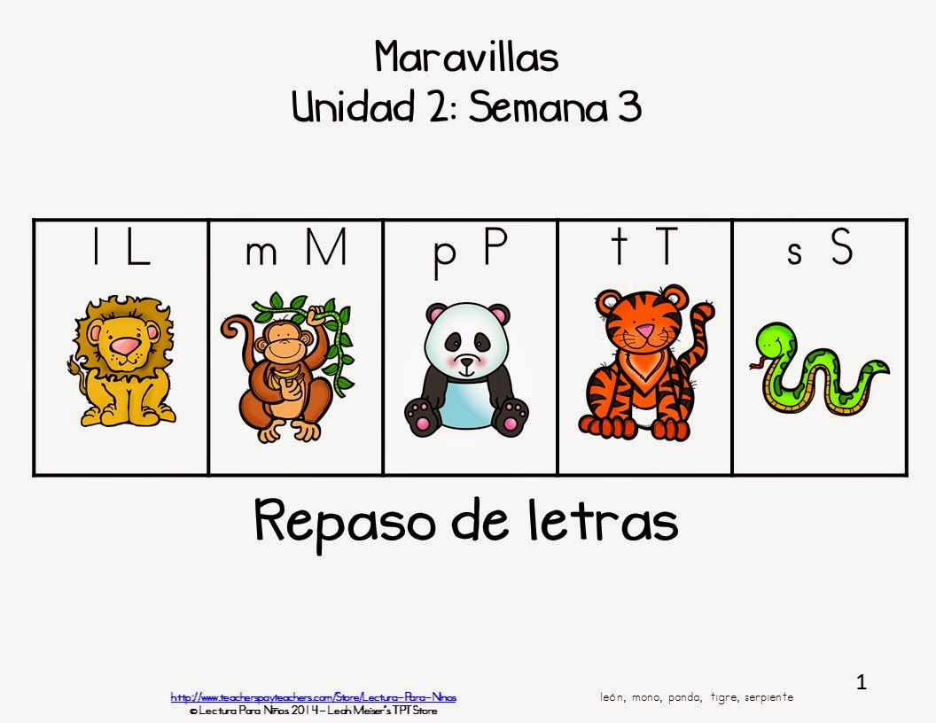 https://www.teacherspayteachers.com/Product/Maravillas-Tema-2-Semana-3-REPASO-FREE-1507848