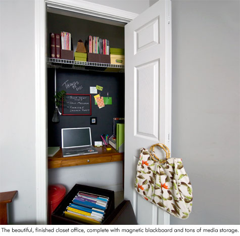 Small Closet Office Ideas